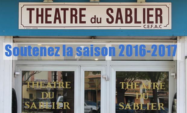 Visuel du projet Soutien à la saison 2016-2017 du Théâtre du Sablier à Orange