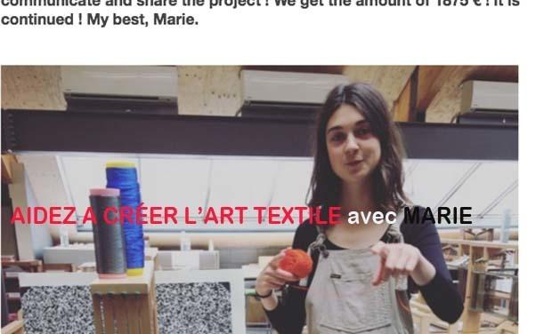Visuel du projet Aidez à créer l'ART TEXTILE !