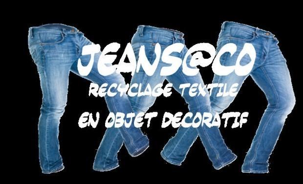 Visueel van project jeans@co recyclage textile en objet décoratif