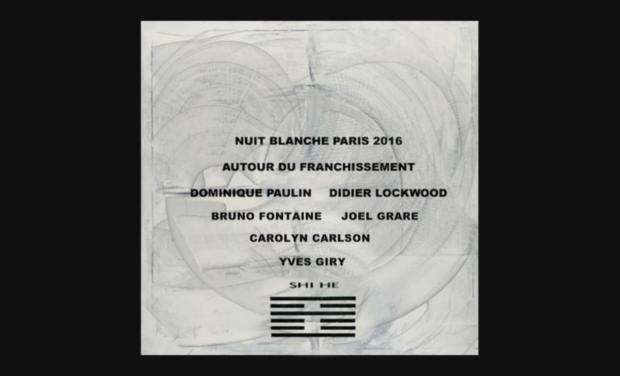 """Visueel van project """"AUTOUR DU FRANCHISSEMENT"""" NUIT BLANCHE PARIS 2016"""