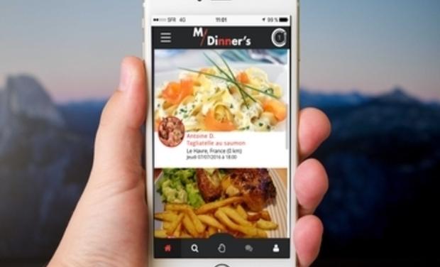Visueel van project My Dinner's - La première plateforme de partage de repas entre étudiants