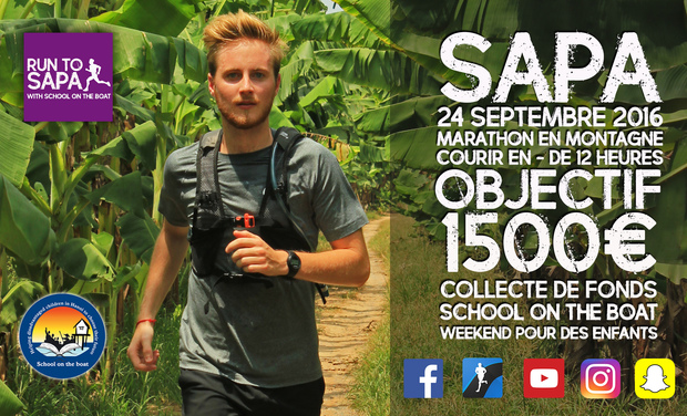 "Visuel du projet RUN TO SAPA with ""School on the boat"""