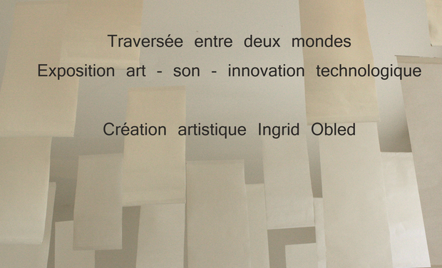 Project visual Exposition art - son - innovation technologique et humanisme : Traversée entre deux mondes