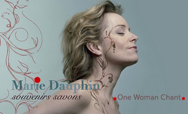 """Visuel du projet One woman chant de Marie Dauphin  """" SOUVENIRS SAVONS"""""""