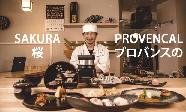 Project visual Sakura Provençal (Fusion food)