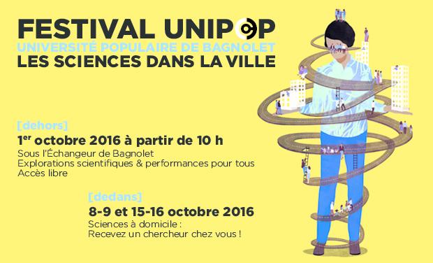 Project visual Festival UniPop : Les Sciences dans la Ville