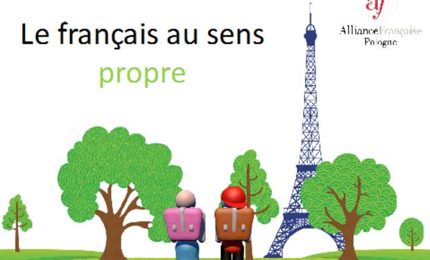 Visuel du projet Le français au sens propre