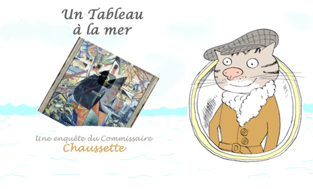 Project visual Commissaire Chaussette album bd jeunesse