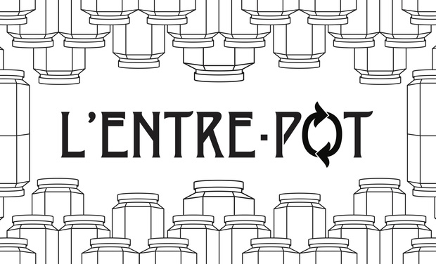 Project visual L'Entre-Pot, épicerie en vrac à Liège