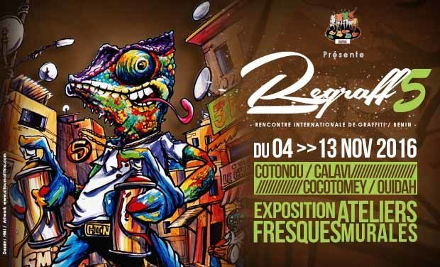 Visuel du projet REGRAFF 5 / Rencontre internationale de graffiti au Benin