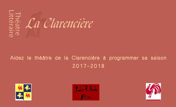 Visuel du projet Pour que vive en harmonie le théâtre de la Clarencière en 2016-2017