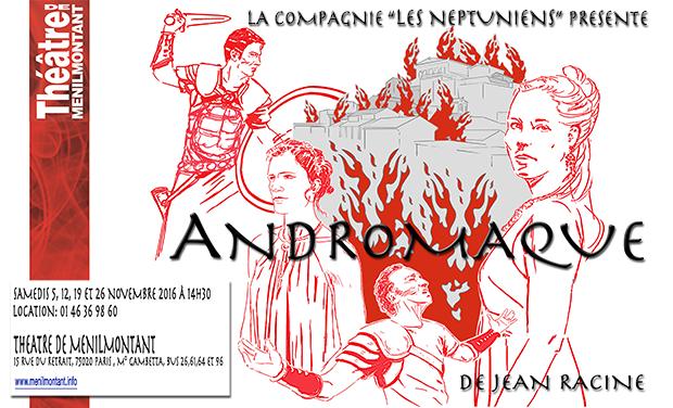 Visueel van project Andromaque de Racine par la Compagnie Les Neptuniens