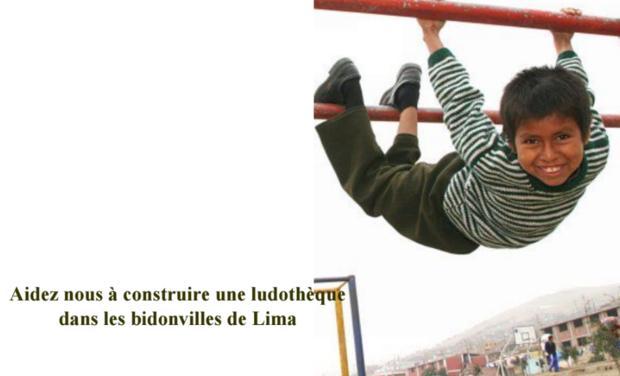 Visuel du projet Aidez-nous à construire une ludotheque dans les bidonvilles de Lima