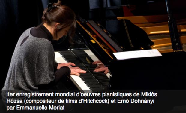 Project visual Enregistrement d'oeuvres pianistiques de Miklos Rozsa par Emmanuelle Moriat