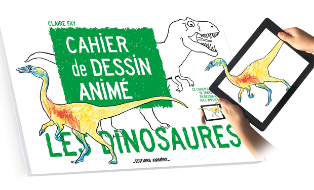 Project visual Cahier de Dessin Animé - Les Dinosaures +Application BlinkBook