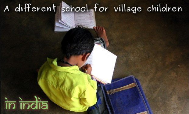 Project visual A different school for village children in India