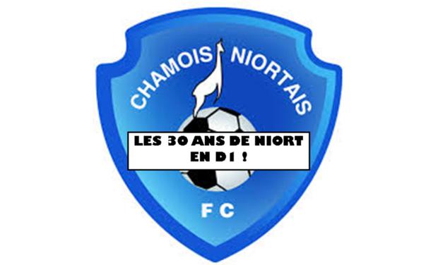 Project visual Les 30 ans de la montée historique de Niort en D1!