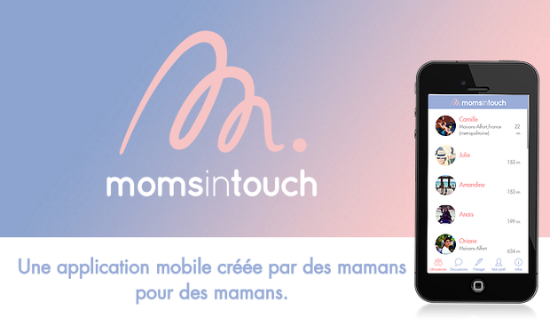 Project visual Momsintouch, l'application mobile des mamans.