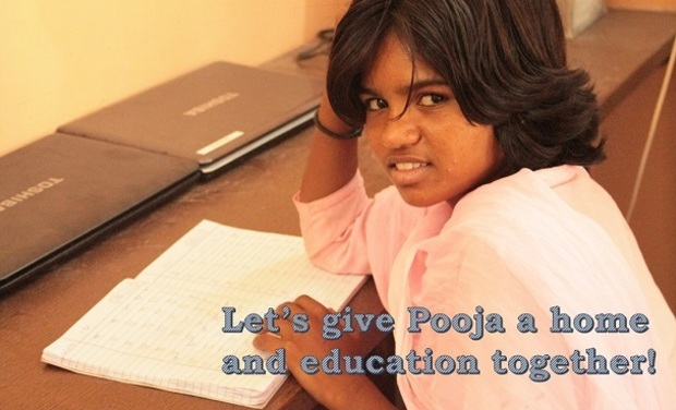 Visuel du projet Let's give Pooja a home and education together!