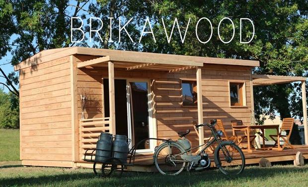 Visueel van project Brikawood - la seule brique en bois qui se monte comme un légo : sans clou, ni vis, ni colle