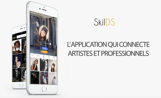 Visueel van project SkilDS L'appli qui connecte artistes et pro