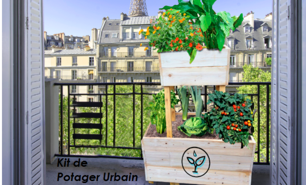 Project visual Kits de potagers urbains, campus Arts et Métiers de Paris