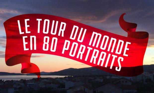 Visuel du projet Le tour du monde en 80 portraits