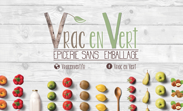 Project visual Vrac en Vert - Epicerie sans emballage, bio et locale à Saint-Etienne