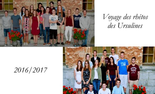 Project visual Voyage des rhétos 2017 ULM Tournai