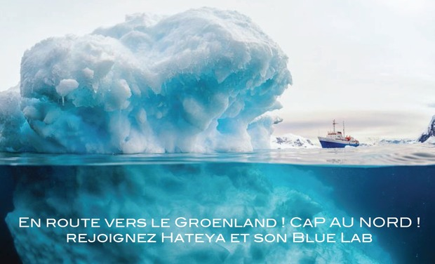 Project visual Blue Lab & Hateya, un voyage scientifique vers les glaces