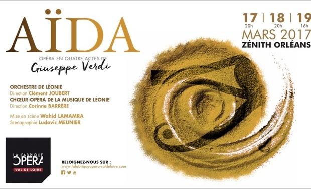 Project visual La Fabrique Opéra Val de Loire présente AÏDA en 2017
