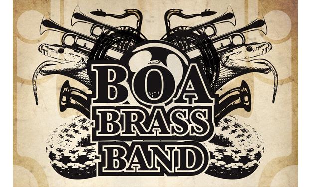 "Visuel du projet BOA BRASS BAND nouvel album : ""Boa Brass Land"""