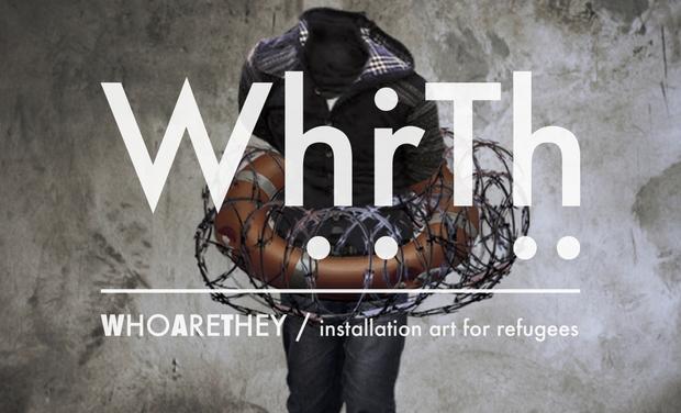 Visuel du projet WHRTH / art installation for refugees
