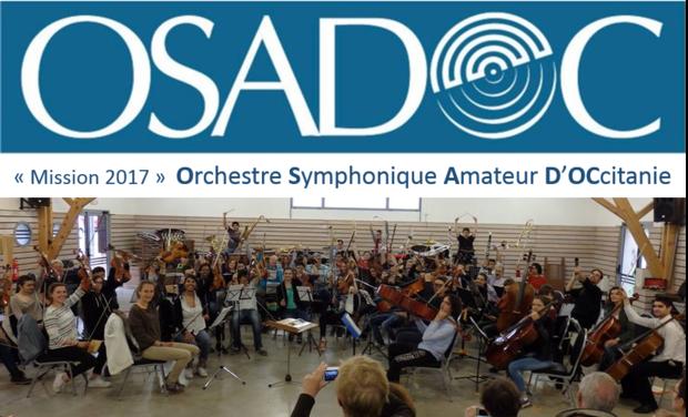 """Visuel du projet """"Mission 2017 """" pour l'OSADOC ! (Orchestre Symphonique Amateur D'OCcitanie)"""