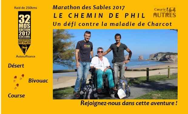 Visuel du projet Marathon des Sables 2017 – Le chemin de Phil… Un défi contre la maladie de Charcot (SLA) !