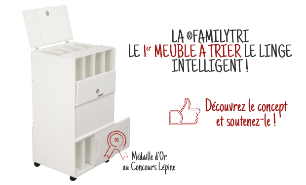 Project visual Meuble de tri pour le linge sale