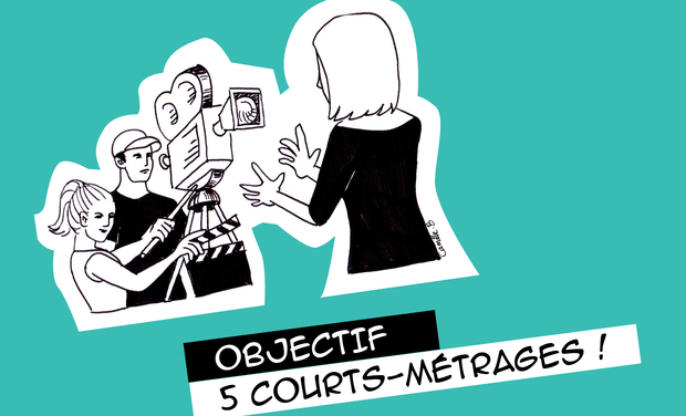 Visuel du projet Objectif 5 courts-métrages en Langue des Signes Française  !