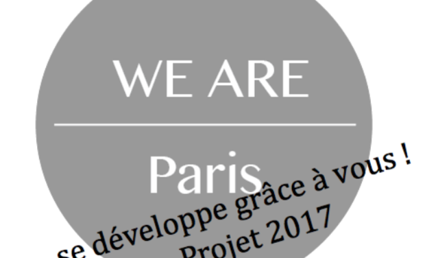 Visueel van project We Are Paris se développe grâce à vous