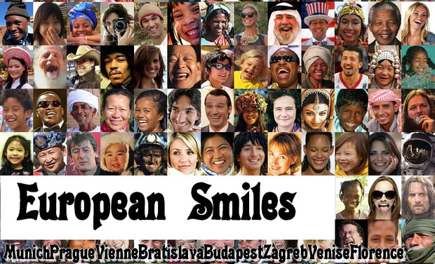 Project visual European smiles