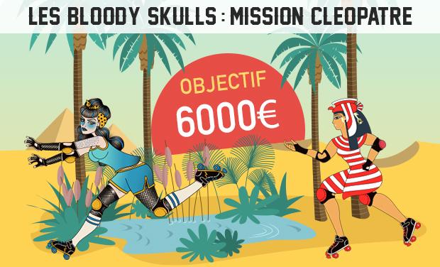 Visuel du projet Bloody Skulls : Mission Cléopâtre - Un match de roller derby au Caire