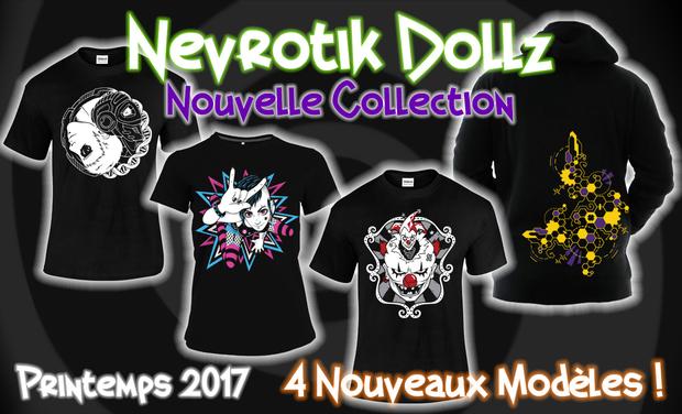 Visuel du projet NEVROTIK DOLLZ - Nouvelle Collection ! Original home-printed clothes