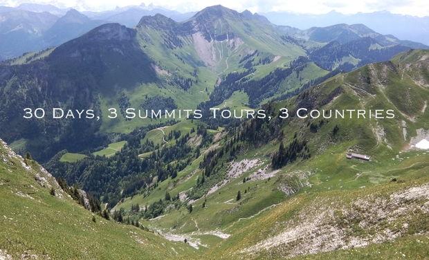 Visuel du projet 30 Days, 3 Summits tours, 3 Countries