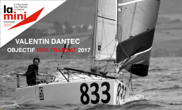 Project visual Valentin Dantec - objectif course au large en Mini 6.50