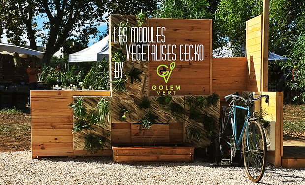 Visueel van project les modules végétalisés GECKO by golem vert