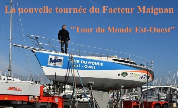 """Visuel du projet La nouvelle tournée du Facteur Maignan """"Tour du Monde à la voile Est-Ouest"""""""