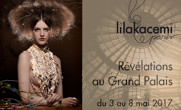 Project visual Lilakacemi Paris au Grand Palais, bijoux brodés contemporains & plastrons Couture
