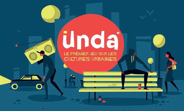 Visuel du projet UNDA - le premier jeu de société sur les cultures urbaines
