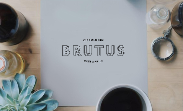 Project visual Brutus, 1er Bar à Cidre de Paris et Crêperie moderne