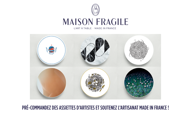 Project visual MAISON FRAGILE, les assiettes en porcelaine Frenchtouch.