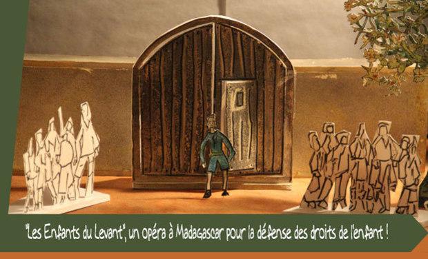 """Visuel du projet """"Les Enfants du Levant"""", un opéra à Madagascar pour la défense des droits de l'enfant"""